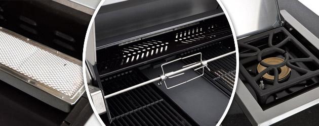 Barbecue cuisine au gaz Landmann AVALON ELITE acier brosse a 7 bruleurs 26300W - Avec Landmann, ne vous contentez plus des imitations