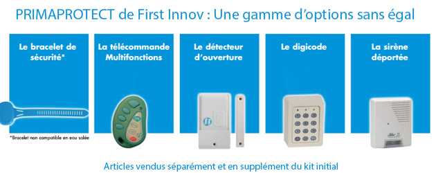 Kit alarme First Innov PRIMAPROTECT 4 segments sans fil piscine enterree NFP90-307 - Kit alarme PRIMAPROTECT C'est l'option d'encore plus de protection !