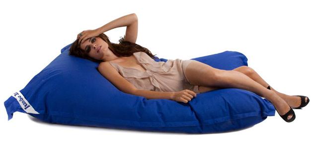 Coussin geant Jumbo Bag THE ORIGINAL 130 x 170cm coloris bleu - Jumbo Bag Un pouf hyper tendance au service de votre relaxation