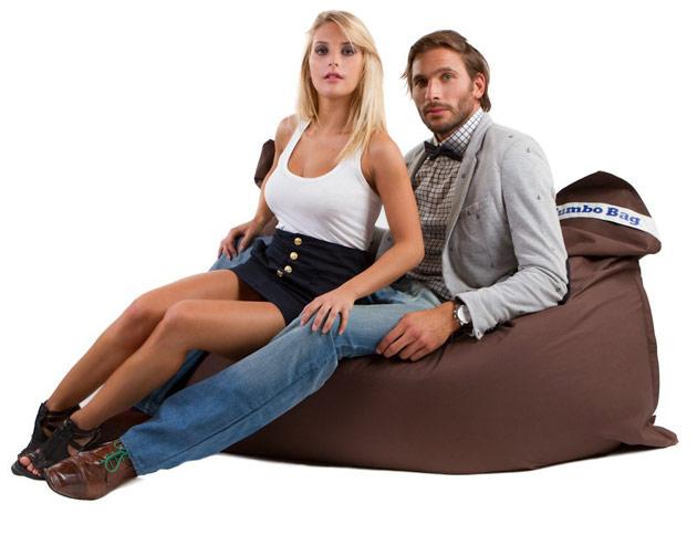 Coussin geant Jumbo Bag THE ORIGINAL 130 x 170cm coloris chocolat - Jumbo Bag Un pouf hyper tendance au service de votre relaxation