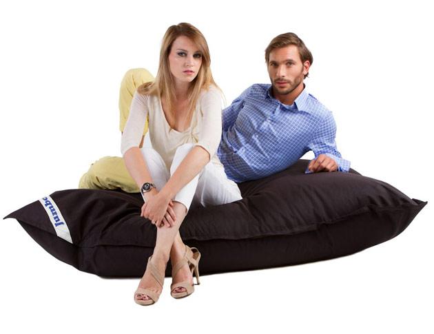 Coussin geant Jumbo Bag THE ORIGINAL 130 x 170cm coloris noir - Jumbo Bag Un pouf hyper tendance au service de votre relaxation