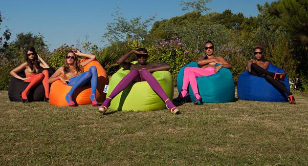 Coussin geant Jumbo Bag SCUBA XXL 130 x 180cm coloris aubergine - Jumbo Bag Un pouf hyper tendance au service de votre relaxation