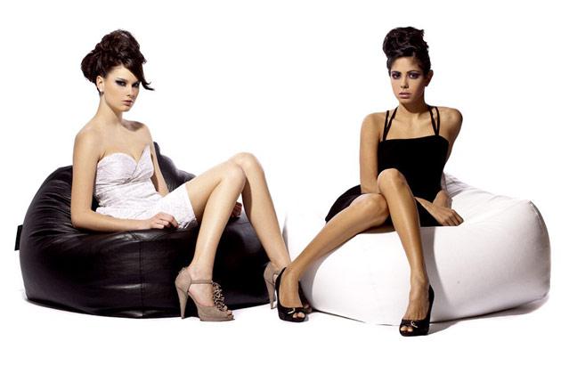 Pouf Jumbo Bag SOUL 70 x 70 x 70cm coloris blanc - Jumbo Bag Un pouf hyper tendance au service de votre relaxation