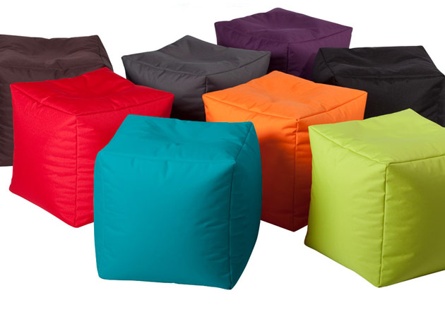 Pouf Jumbo Bag CUBE 40 x 40 x 40cm coloris chocolat - Jumbo Bag Un pouf hyper tendance au service de votre relaxation