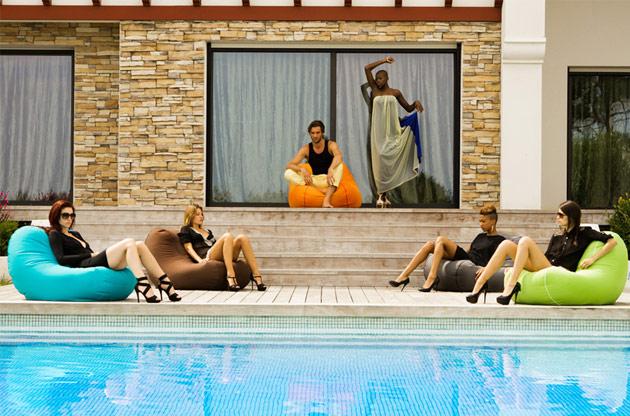 Sofa Jumbo Bag CHILLY BEAN 108 x 75 x 70cm coloris vert anis - Jumbo Bag Un sofa hyper tendance au service de votre relaxation
