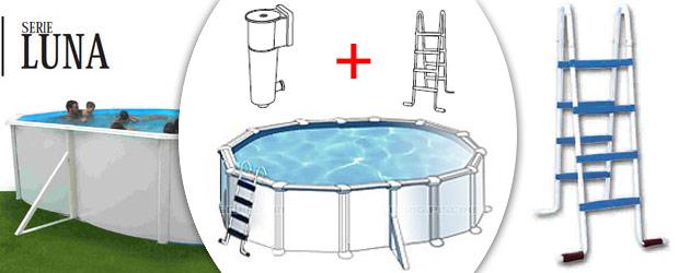 Kit piscine hors-sol acier Toi LUNA OVALADA ovale 5.50 x 3.66 x 1.20m laque blanc - Avantages des piscines Toi LUNA OVALADA