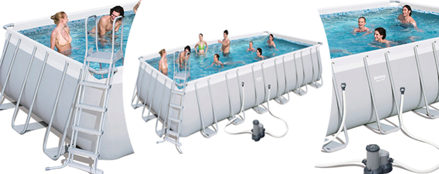 Kit piscine tubulaire Bestway POWER STEEL FRAME POOL rectangulaire 404 x 201 x 100cm - Avantages des piscines Bestway POWER STEEL FRAME POOL