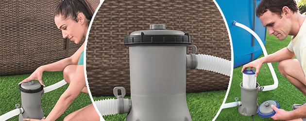 Filtration a cartouche Bestway FLOWCLEAR 3m³/h piscine hors-sol - Avantages de la filtration monobloc à cartouche FLOWCLEAR