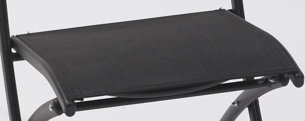 Chaise pliante de jardin en aluminium et textilene coloris noir - Chaise aluminium et textilène compacte et élégante
