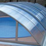 Abri piscine mobile Abriself PREMIUM 5 modules 540 x 1073 x 145cm gris anthracite - Kit abri piscine Abriself Une offre complète et prête à l'emploi