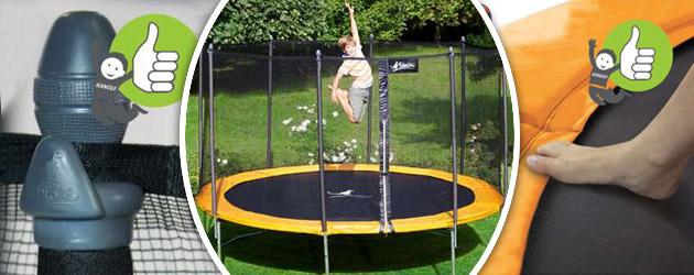 Trampoline Kangui FUNNI POP 360 Ø365 x 266cm a usage familial - Avec le trampoline Kangui FUNNI, place à l'aventure