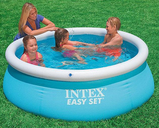 Piscine hors-sol autoportante Intex EASY SET ronde Ø305 x 76cm cristal - Piscine hors-sol Intex Intex EASY SET Plaisir et détente à chaque baignade