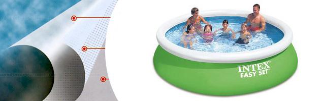 Kit piscine hors-sol autoportante Intex EASY SET ronde Ø366 x 84cm avec filtration debit 2m3/h - Piscine hors-sol Intex EASY SET Plaisir et détente à chaque baignade
