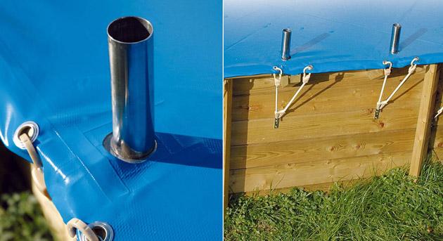 Couverture de securite UBBINK octogonale diametre 4.30m norme NFP 90-308 pour piscine bois - Avantages de la couverture de sécurité Ubbink