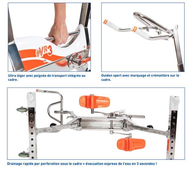 Aquabike Waterflex WR3 velo de piscine - Waterflex WR3 pour une remise en forme en douceur