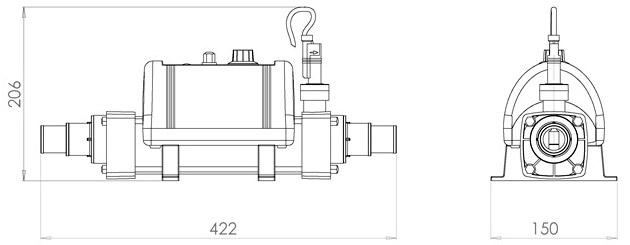 Rechauffeur Elecro NANO 3kW pour piscine et spa - Réchauffeur Elecro NANO