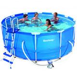 Kit piscine Bestway STEEL PRO POOL ronde Ø366 x 100cm filtration cartouche - Kit piscine complet Bestway STEEL PRO POOL