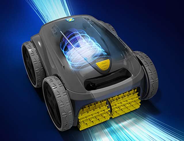 Robot piscine electrique Zodiac VORTEX OV3400 avec chariot - Robot piscine électrique Zodiac VORTEX OV3400 Effet VORTEX pour une aspiration ultra puissante