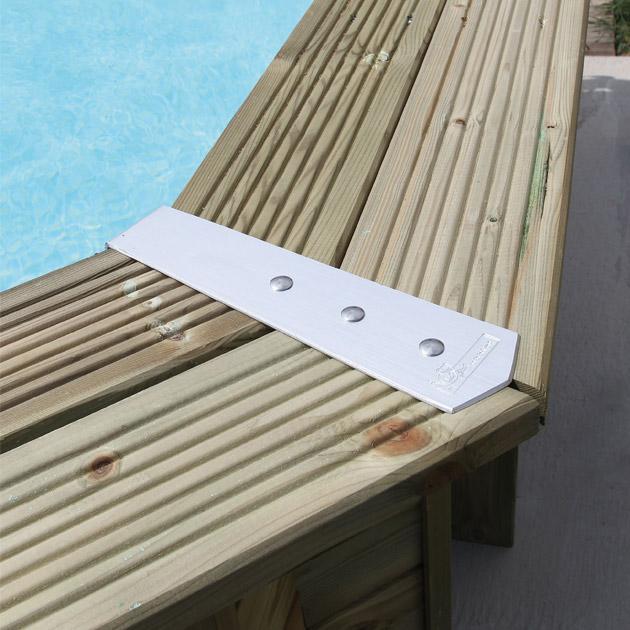 Kit de 8 enjoliveurs de margelles Ubbink ALU135D pour piscine hors-sol bois octogonale - Avantages des enjoliveurs de margelles bois Nortland-Ubbink