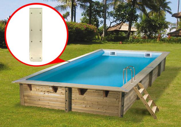 Kit de 4 enjoliveurs de margelles Ubbink ALUDR pour piscine hors-sol bois rectangulaire - Avantages des enjoliveurs de margelles bois Nortland-Ubbink