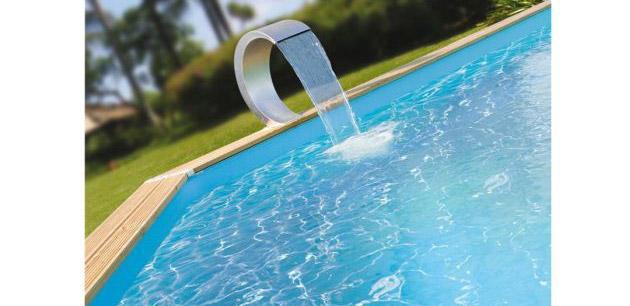 Cascade piscine bois Ubbink MAMBA inox 54 x 30 x 32cm - Avantages de la cascade MAMBA Ubbink