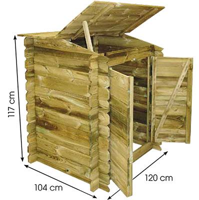 Coffre de filtration bois Ubbink CLASSIC 117 x 120 x 104cm pour piscine - Dimensions du coffre de filtration Ubbink CLASSIC