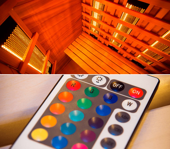 Sauna cabine infrarouge Holl's MULTIWAVE 3 puissance 2550W - Sauna cabine infrarouge Holl's Technologie avancée et finition exemplaire
