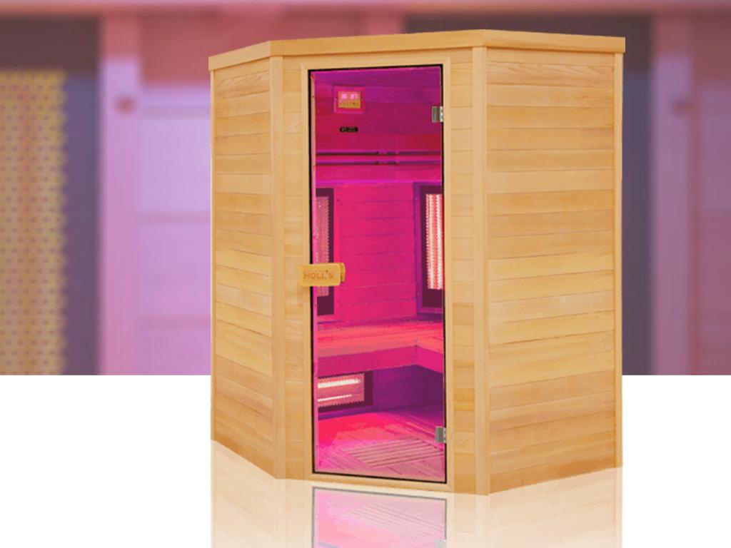 Cabine De Sauna Prix sauna cabine infrarouge holl's multiwave 3c 2550w 3/4 places