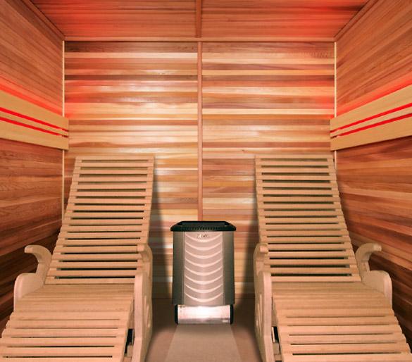 Sauna cabine vapeur Holl's ALTO VAP coloris bois naturel - Sauna cabine vapeur Holl's ALTO VAP Qualité et finition exemplaire