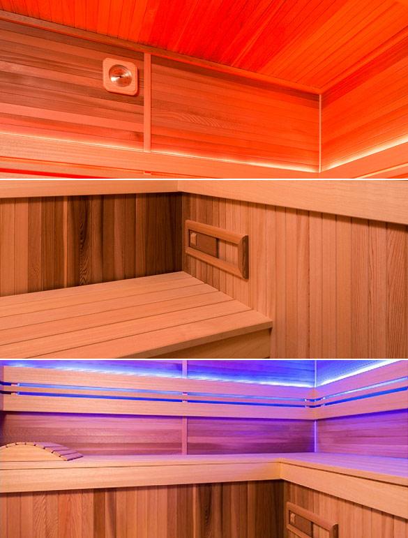 Sauna cabine vapeur Holl's ECCOLO bois naturel - Sauna cabine vapeur Holl's ECCOLO Economique et pourtant très confortable
