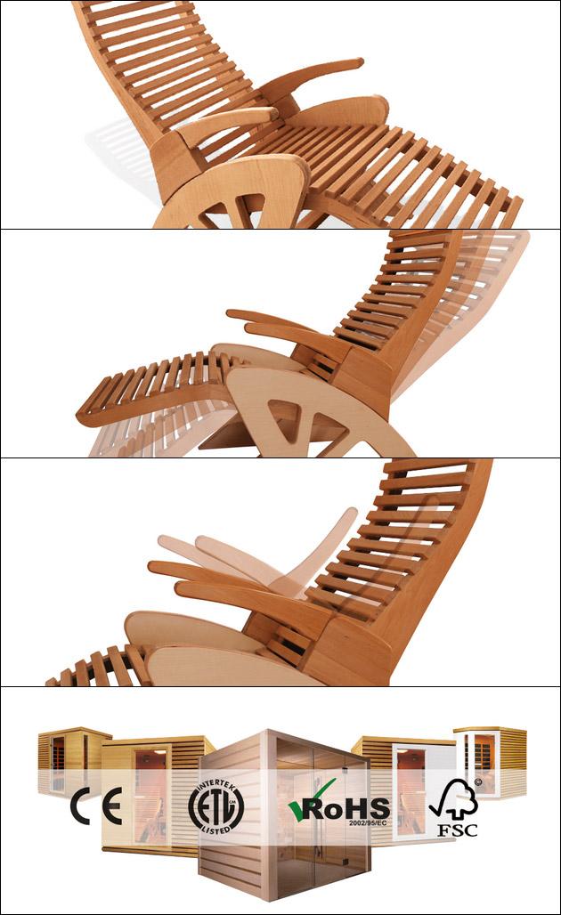 Fauteuil ergonomique de relaxation Holl's ALTO CONFORT coloris bois naturel - Fauteuil de relaxation Holl's ALTO CONFORT Détente et relaxation