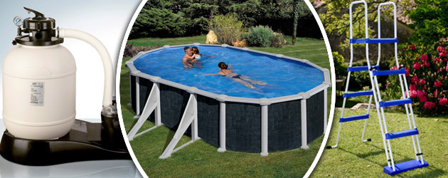 Kit piscine acier gr dreampool rattan ovale x x for Piscine hors sol 2x3