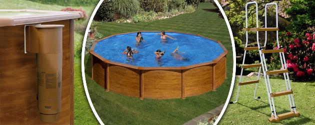 Kit piscine hors sol acier gr dreampool maldivas ronde 4 for Piscine hors sol 2x3
