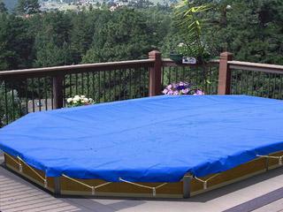 couverture d 39 hiver proswell p pb 580 vert pour piscine bois carre 3x3 sur march. Black Bedroom Furniture Sets. Home Design Ideas