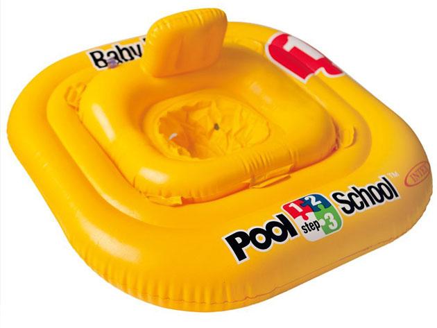 Bouee culotte gonflable Intex POOL SCHOOL dimensions 79 x 79cm coloris jaune - Avantages et caractéristiques de la bouée culotte Intex POOL SCHOOL pour piscine ou plage