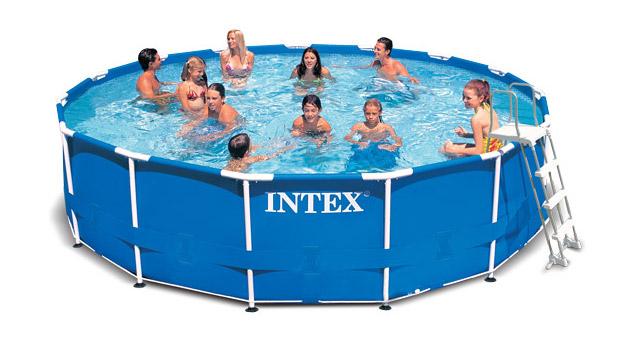 kit piscine tubulaire intex metal frame ronde avec. Black Bedroom Furniture Sets. Home Design Ideas