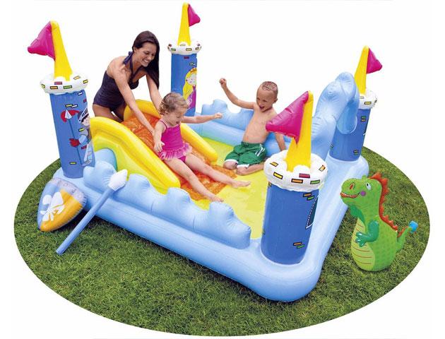 Aire de jeu gonflable Intex CHATEAU MEDIEVAL dimensions 185 x 152 x 107cm - Avantages et caractéristiques de l'aire de jeu gonflable Intex CHATEAU MEDIEVAL