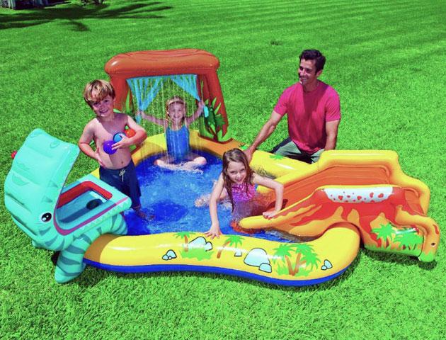 Aire de jeu gonflable Intex JURASSIC dimensions 249 x 191 x 109cm - Avantages et caractéristiques de l'aire de jeu gonflable Intex JURASSIC