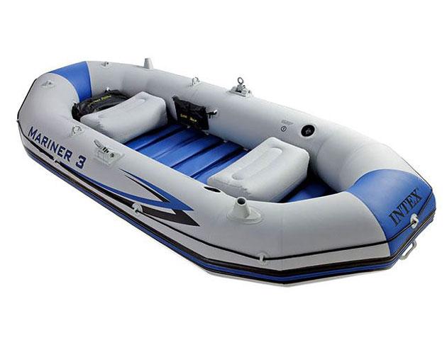 Bateau gonflable Intex MARINER 3 dimensions 297 x 127 x 46cm coloris gris et bleu - Avantages et caractéristiques du bateau gonflable MARINER 3