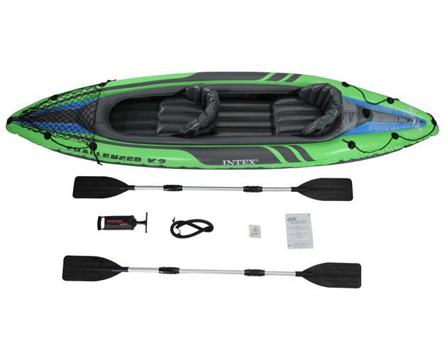 Kayak gonflable Intex CHALLENGER K2 dimensions 351 x 76 x 38cm 2 personnes - Avantages et caractéristiques du kayak gonflable Intex CHALLENGER K2