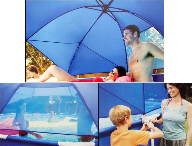 Ombrelle Intex UMBRELLA pour piscine ronde METAL FRAME et ULTRA FRAME Ø366 a Ø549cm - Avantages et caractéristiques de l'ombrelle Intex UMBRELLA pour piscine tubulaire Intex