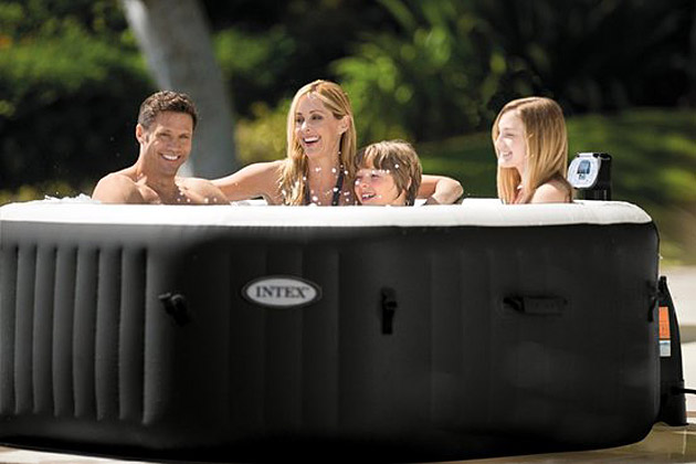 Spa gonflable Intex PURESPA DELUXE 6 places octogonal 218x71cm Noir - Galerie photos et vidéos du spa gonflable Intex PURESPA DELUXE jets & bulles