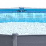 Kit piscine hors-sol Intex GRAPHITE ronde Ø478 x 124cm avec filtration a sable - Kit piscine hors-sol Intex GRAPHITE Pour des moments de baignade inoubliables