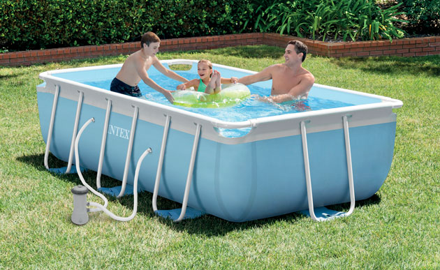 kit piscine tubulaire intex prism frame rectangulaire 300. Black Bedroom Furniture Sets. Home Design Ideas