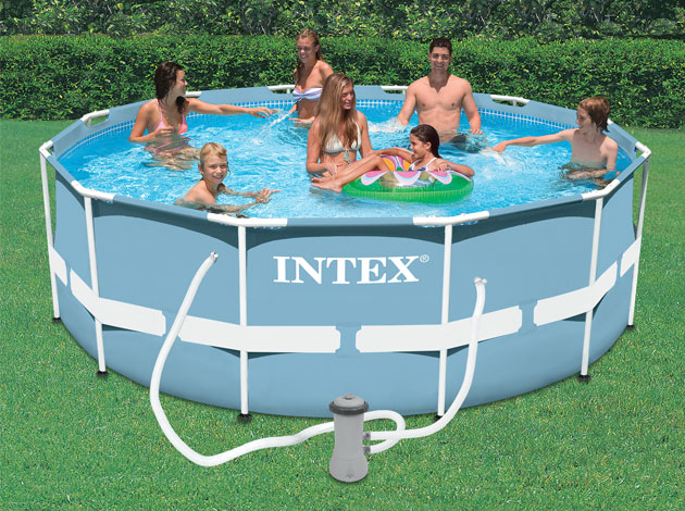 kit piscine tubulaire intex prism frame ronde 366 x 122cm filtration cartouche 1 cadeau. Black Bedroom Furniture Sets. Home Design Ideas