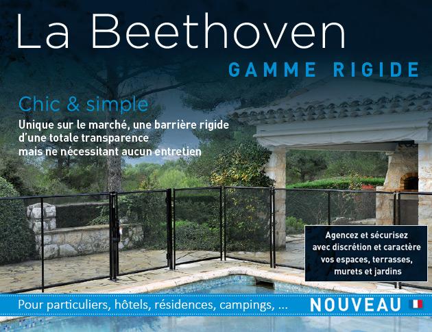 Barriere de protection Beethoven RIGIDE platines norme NF P90-306 - La barrière de piscine, de jardin ou de terrasse Beethoven RIGIDE allie esthétisme et sécurité