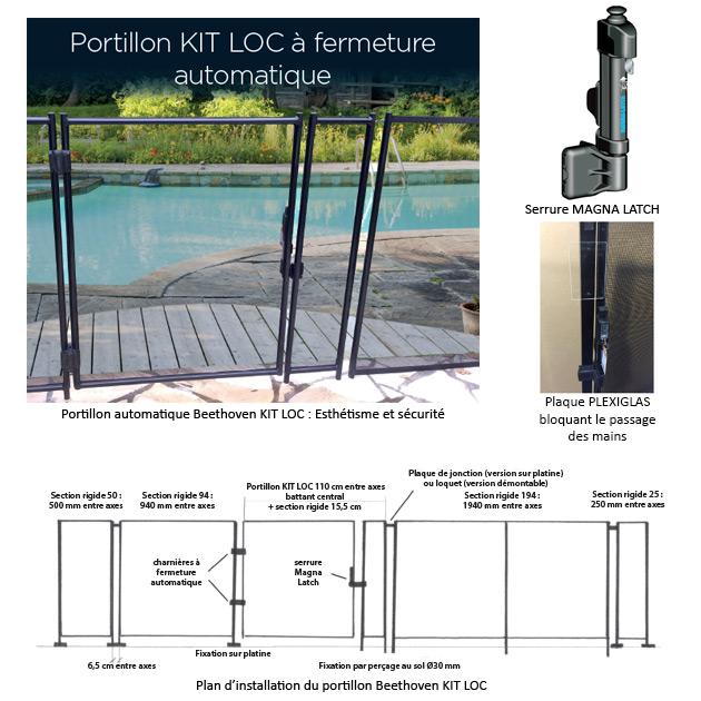 Barriere de protection Beethoven RIGIDE manchons Ø30mm norme NF P90-306 - Portillon automatique Beethoven KIT LOC Facilter les accès tout en respectant la sécurité