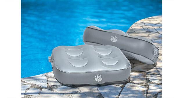 Set NetSpa CONFORT lot de 2 coussins gonflables pour spa - Set NetSpa CONFORT Pour un confort d'assise inégalé lors de votre séance de relaxation