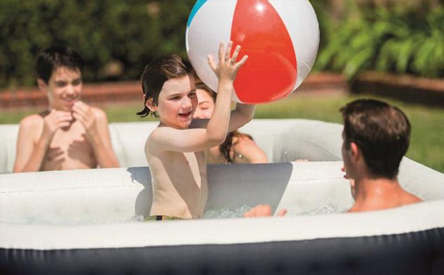 Spa piscine gonflable Intex PURESPA BULLES octogonal allonge 386 x 183 x 71cm vinyle lamine - Spa piscine gonflable Intex PURESPA BULLES Une installation et un fonctionnement ultra simplifiés