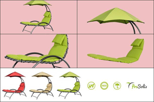 Chaise longue ProSolis NEST LOUNGE 165 x 144 x H180cm coloris rouge - Chaise longue ProSolis NEST LOUNGE Confortable, design et contemporain